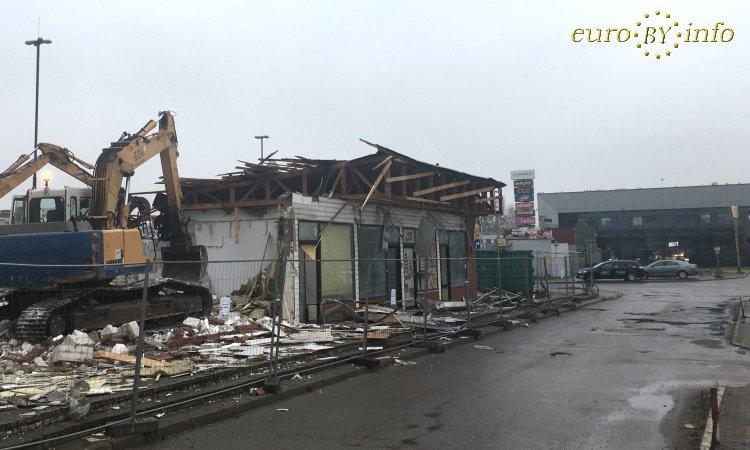 Стройка около вокзала Белостока