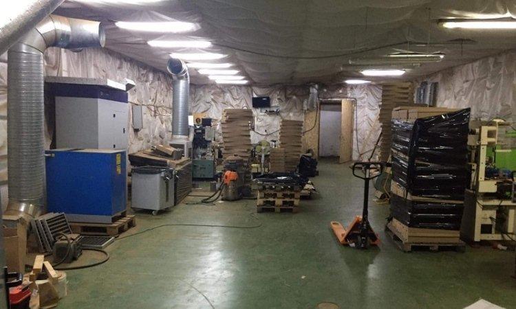 Помещение нелегальной фабрики около Лодзи