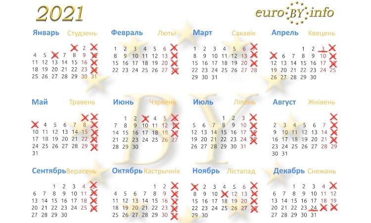 Нерабочие дни в Польше календарь 2021
