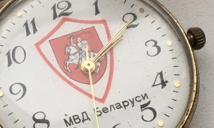 Часы МВД Беларуси с погоней