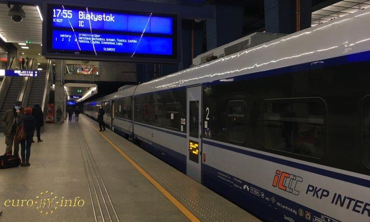 Поезд на Белосток в Польше