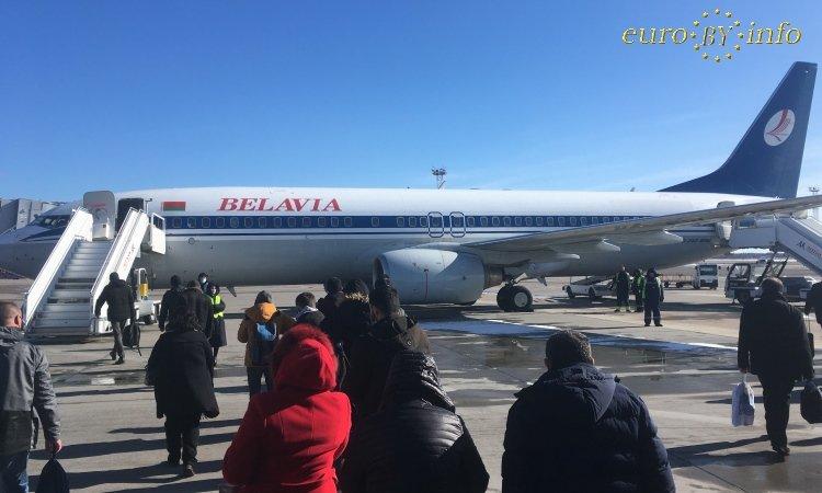 Самолёт Минск Варшава