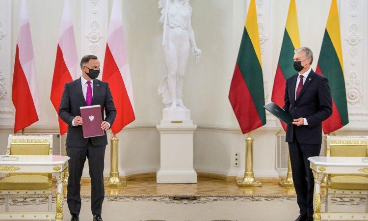 Президенты Польши и Литвы в ходе встречи в Вильнюсе