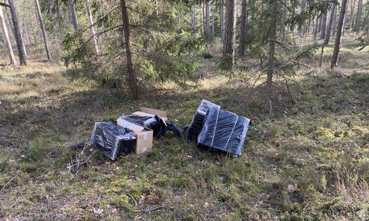 сигареты в лесу Варенского районе Литвы