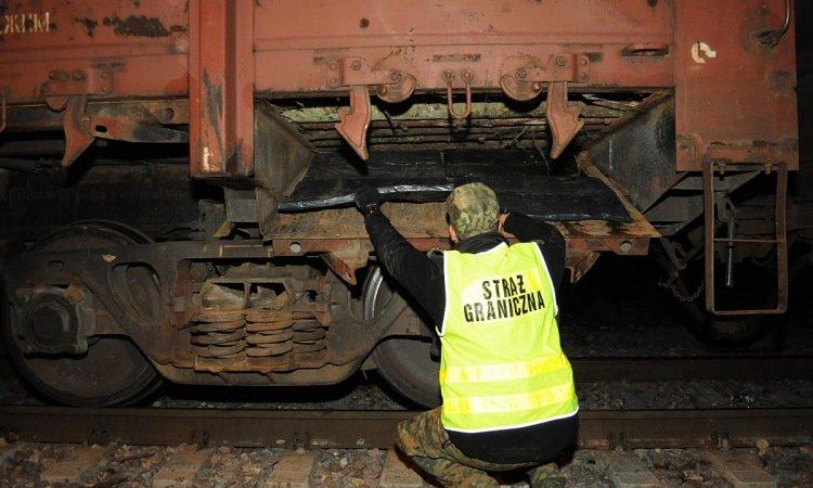 Таможня проверяет поезд