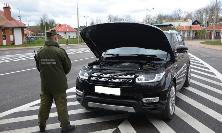 Задержан Range Rover на границе у поляков