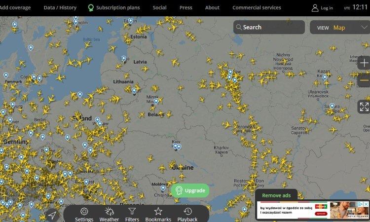 самолёты над Беларусью