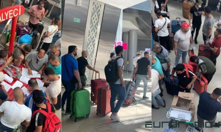 Иракцы при оформлении в аэропорту Минска