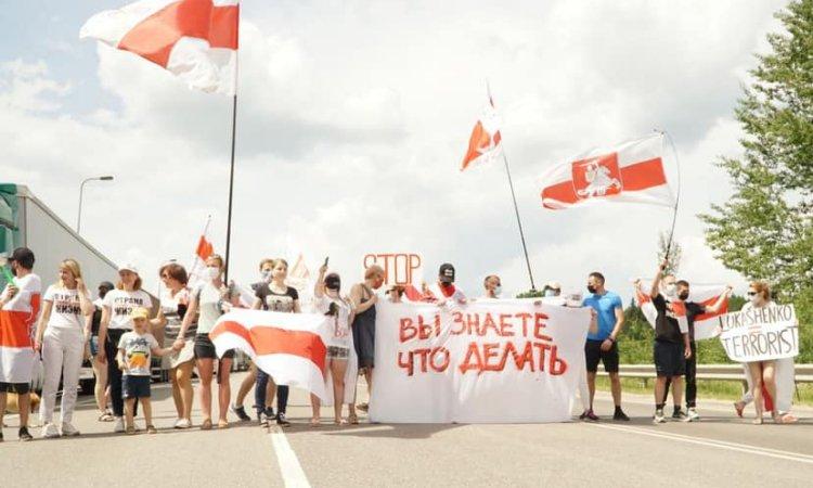 Блокирование границы беларусами в Литве
