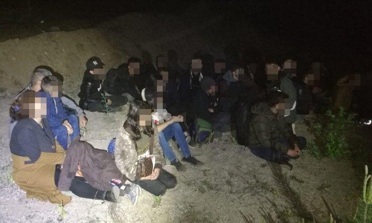 Задержанная на границе группа нелегалов