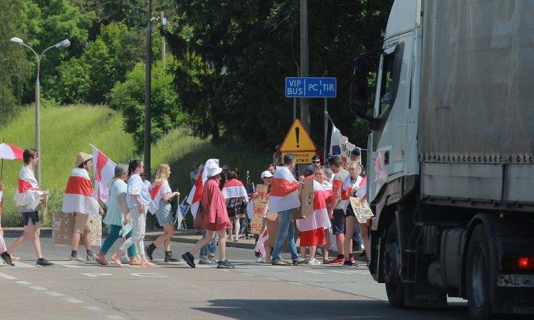 Блокирование границы беларусами в Польше