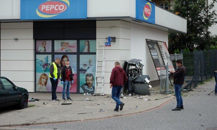 Банкомат взоврали в Польше