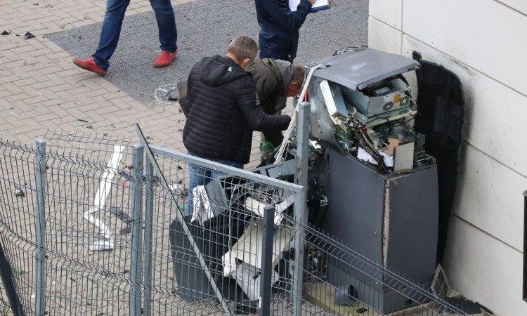 Взорванный банкомат в Белостоке